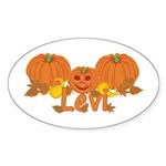 Halloween Pumpkin Levi Sticker (Oval)