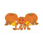 Halloween Pumpkin Levi 35x21 Wall Decal