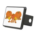 Halloween Pumpkin Levi Rectangular Hitch Cover