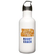 World's Greatest Rugby Coach Water Bottle