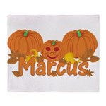 Halloween Pumpkin Marcus Throw Blanket
