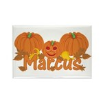 Halloween Pumpkin Marcus Rectangle Magnet