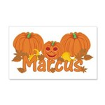 Halloween Pumpkin Marcus 20x12 Wall Decal