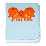 Halloween Pumpkin Marvin baby blanket