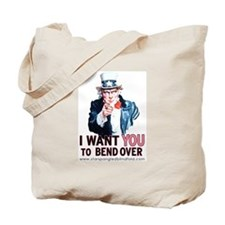 Bend Over for Uncle Sam Tote Bag