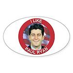 I Like Paul Ryan Sticker (Oval 10 pk)