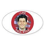 I Like Paul Ryan Sticker (Oval)