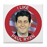I Like Paul Ryan Tile Coaster