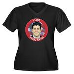 I Like Paul Ryan Women's Plus Size V-Neck Dark T-S