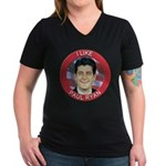 I Like Paul Ryan Women's V-Neck Dark T-Shirt