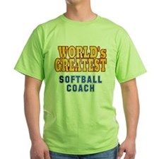 World's Greatest Softball Coach T-Shirt