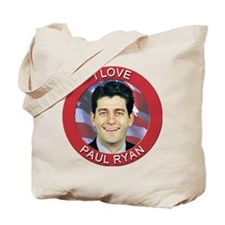 I Love Paul Ryan Tote Bag