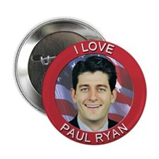"I Love Paul Ryan 2.25"" Button (10 pack)"