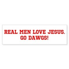 Cute Mens bulldogs Bumper Sticker