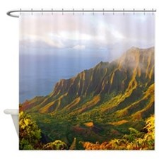 Kalalau Valley Sunset Tropical Shower Curtain