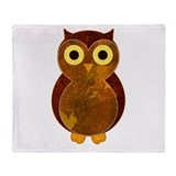 Little Brown Owl Throw Blanket