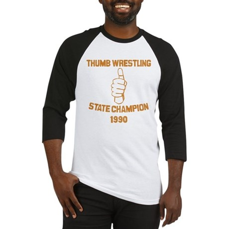 Thumb Wrestling Champ Baseball Jersey