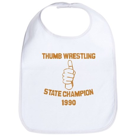 Thumb Wrestling Champ Bib
