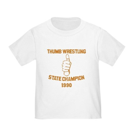 Thumb Wrestling Champ Toddler T-Shirt