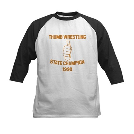 Thumb Wrestling Champ Kids Baseball Jersey