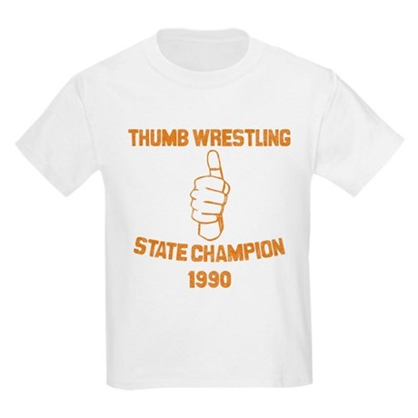 Thumb Wrestling Champ Kids T-Shirt