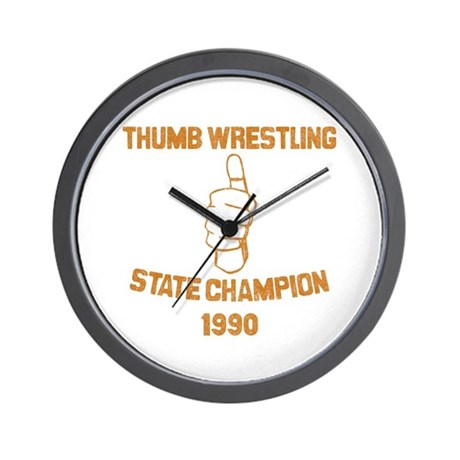 Thumb Wrestling Champ Wall Clock