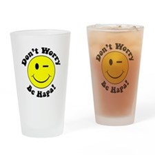 Dont worry Be Hapa! Black Drinking Glass