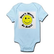 Dont worry Be Hapa! Black Infant Bodysuit