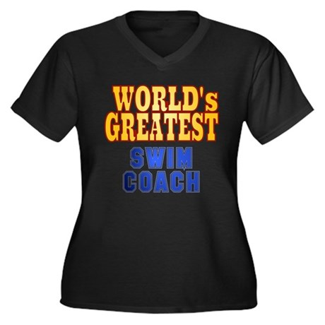 World's Greatest Swim Coach Women's Plus Size V-Ne