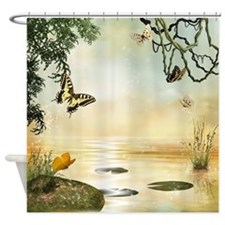 Butterfly Lake Shower Curtain