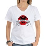 Small Fast Kick Yer Ass Women's V-Neck T-Shirt