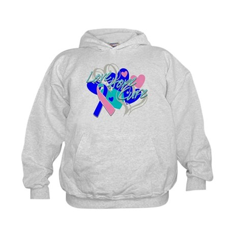 Thyroid Cancer Love Hope Cure Kids Hoodie