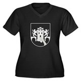 Mexico City Seal Women's Plus Size V-Neck Dark T-S