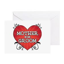 Tattoo Heart Mother Groom Greeting Card