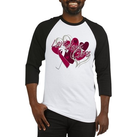 Throat Cancer Love Hope Cure Baseball Jersey