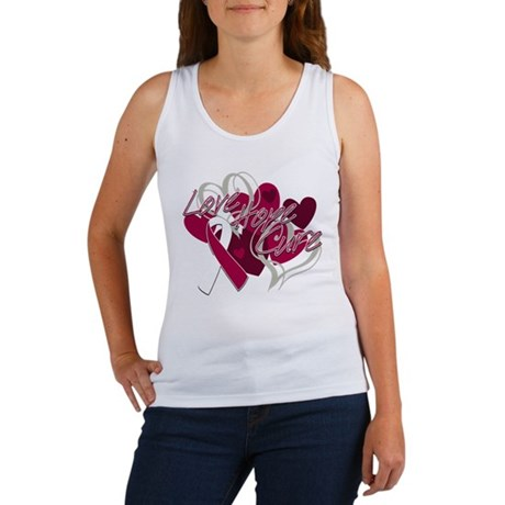 Throat Cancer Love Hope Cure Women's Tank Top