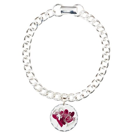 Throat Cancer Love Hope Cure Charm Bracelet, One C