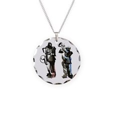 Jazz musicians Necklace Circle Charm