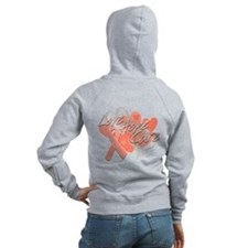 Uterine Cancer Love Hope Cure Zip Hoodie