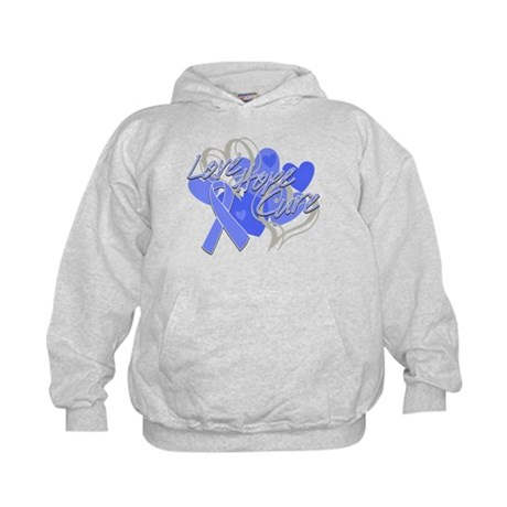 Stomach Cancer Love Hope Cure Kids Hoodie
