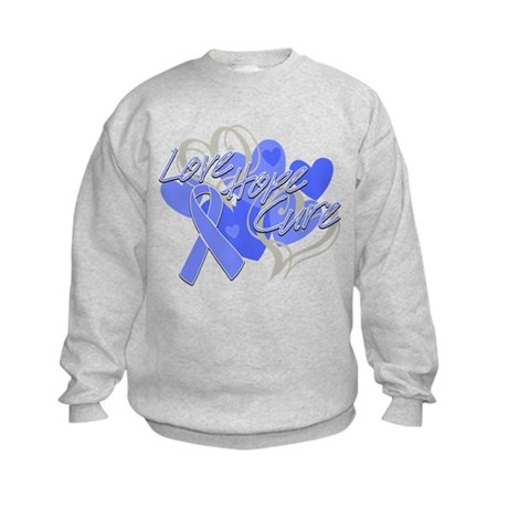 Stomach Cancer Love Hope Cure Kids Sweatshirt