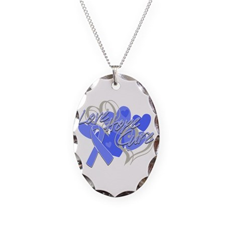 Stomach Cancer Love Hope Cure Necklace Oval Charm
