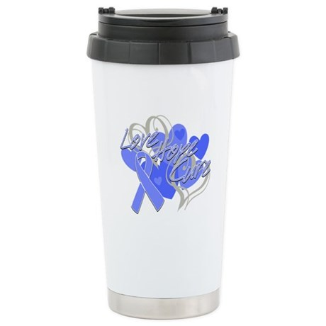 Stomach Cancer Love Hope Cure Ceramic Travel Mug