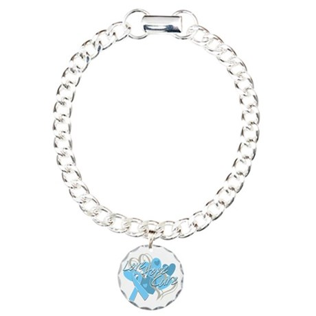 Thyroid Disease Love Hope Cure Charm Bracelet, One