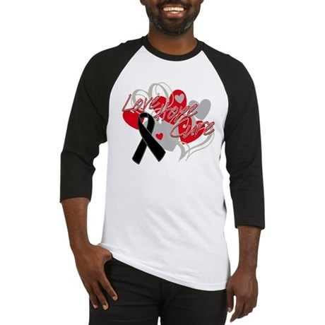 Skin Cancer Love Hope Cure Baseball Jersey