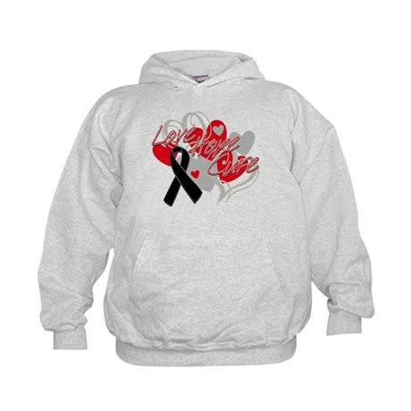 Skin Cancer Love Hope Cure Kids Hoodie