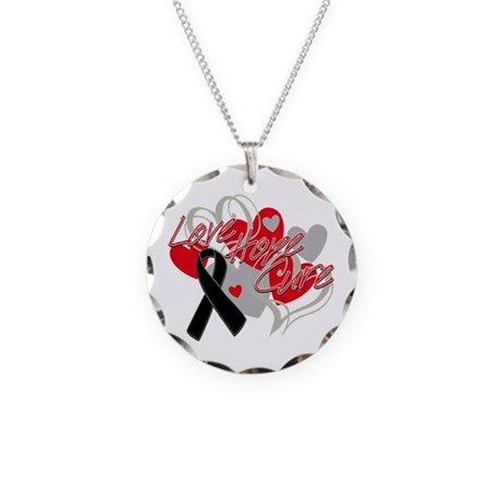Skin Cancer Love Hope Cure Necklace Circle Charm