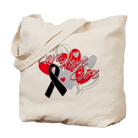 Skin Cancer Love Hope Cure Tote Bag