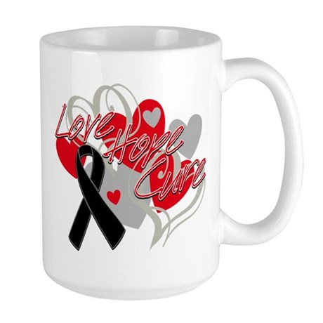 Skin Cancer Love Hope Cure Large Mug