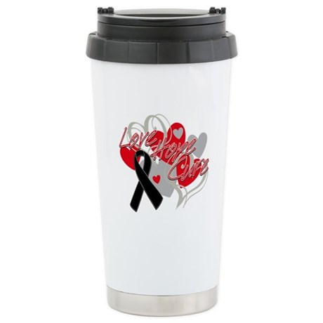 Skin Cancer Love Hope Cure Ceramic Travel Mug